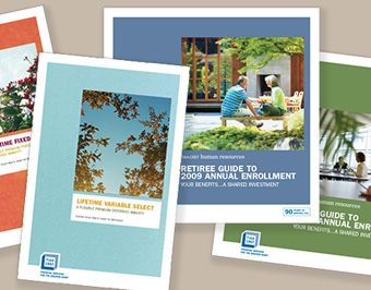 Various TIAA-CREF Investment Brochure Covers